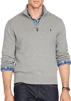 Polo Ralph Lauren Big & Tall Cotton Half-Zip Sweater