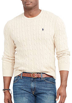 Polo Ralph Lauren Big & Tall Cable-Knit Cotton Sweater