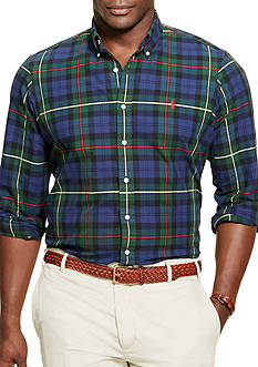 Polo Ralph Lauren Big & Tall Plaid Oxford Sport Shirt