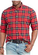 Polo Ralph Lauren Big & Tall Plaid Cotton Oxford
