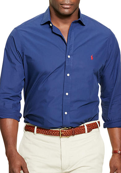 Mens big and tall casual shirts solid belk for Big and tall casual shirts