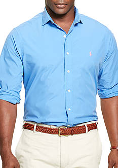 Polo Ralph Lauren Big & Tall Cotton Poplin Sport Shirt