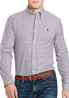 Polo Ralph Lauren Big & Tall Plaid Twill Sport Shirt