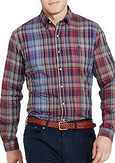 Polo Ralph Lauren Big & Tall Striped Twill Sport Shirt