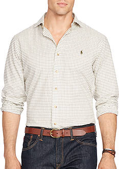 Polo Ralph Lauren Big & Tall Checked Twill Sport Shirt