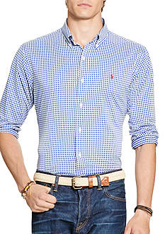 Polo Ralph Lauren Big & Tall Gingham Stretch Performance Shirt