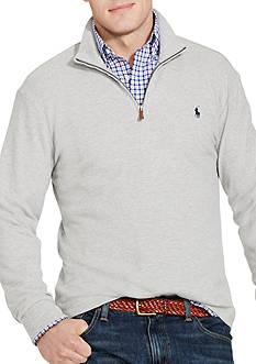 Polo Ralph Lauren Big & Tall Cotton-Blend Half-Zip Pullover