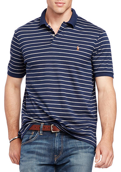 Polo Ralph Lauren Big & Tall Striped Pima Soft Touch Polo Shirt