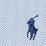 Big and Tall Designer Clothes: Maidstone Blue Polo Ralph Lauren Big & Tall Herringbone Knit Dress Shirt