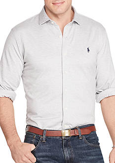 Polo Ralph Lauren Big & Tall Herringbone Knit Dress Shirt