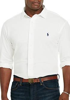 Polo Ralph Lauren Big & Tall Herringbone Knit Dress Shirt