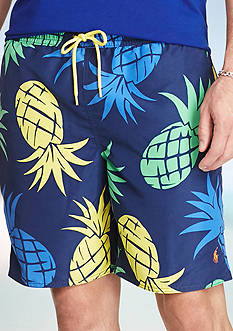 Polo Ralph Lauren Big & Tall Captiva Pineapple Swim Trunks