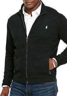 Polo Ralph Lauren Big & Tall Ribbed Cotton Full-Zip Jacket