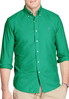 Polo Ralph Lauren Big & Tall Garment-Dyed Cotton Shirt
