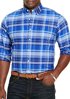 Polo Ralph Lauren Big & Tall Plaid Cotton Oxford Shirt