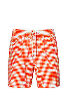 Polo Ralph Lauren Big & Tall Gingham Swim Trunks