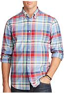 Polo Ralph Lauren Big & Tall Plaid Oxford Shirt