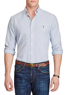 Polo Ralph Lauren Big & Tall Plaid Cotton Oxford Shirt