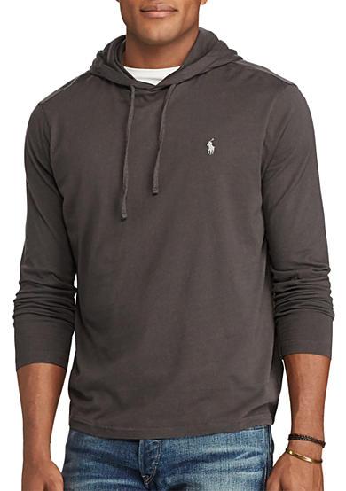 polo ralph lauren big tall cotton jersey hooded t shirt