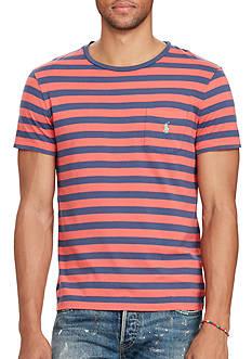 Polo Ralph Lauren Big & Tall Striped Cotton Pocket T-Shirt