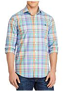Polo Ralph Lauren Big & Tall Plaid Cotton Poplin