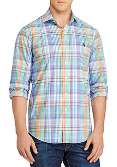 Polo Ralph Lauren Big & Tall Plaid Cotton Poplin Shirt