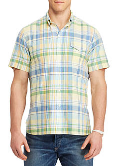 Polo Ralph Lauren Big & Tall Classic Fit Plaid Cotton Shirt