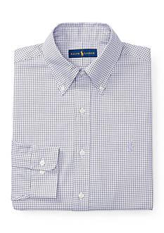 Polo Ralph Lauren Checked Twill Button Down Dress Shirt