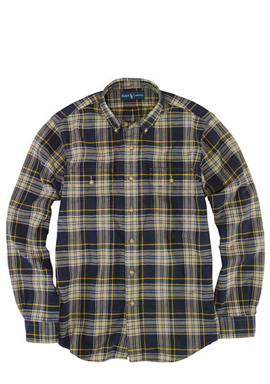 Polo Ralph Lauren Plaid Cotton Oxford Work Shirt
