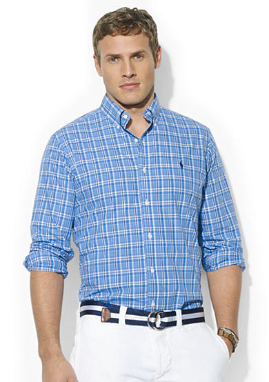 Polo Ralph Lauren Big & Tall Classic-Fit Plaid or Multi-Striped Poplin Sport Shirt