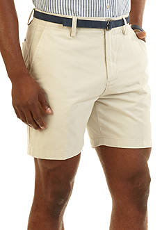 Nautica 6-in. Flat-Front Twill Shorts