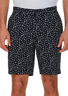 Nautica Classic-Fit Anchor Print Shorts