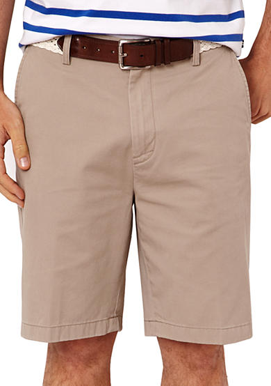 Nautica Big & Tall Flat Front Chino Shorts