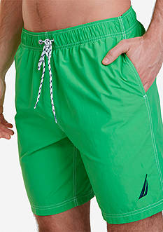 Nautica Big & Tall Anchor Solid Swim Trunks