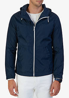 Nautica Big & Tall Water Resistant Hooded Jacket