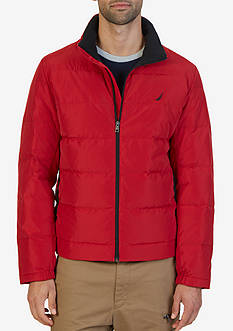 Nautica Quilted Down-Blend Jacket