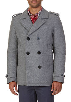Nautica Doublebreasted Wool Blend Peacoat