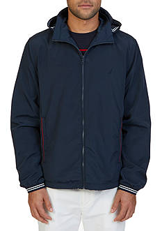 Nautica Lightweight Hooded Bomber Jacket