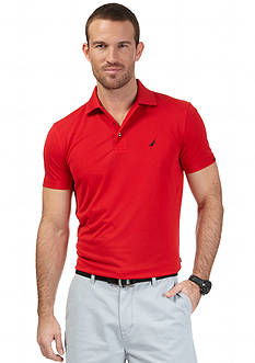 Nautica Short Sleeve Trim Fit Tech Polo