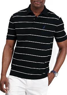 Nautica Short Sleeve Striped Performance Deck Shirt