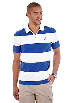 Nautica Short Sleeve Bold Striped Polo Shirt