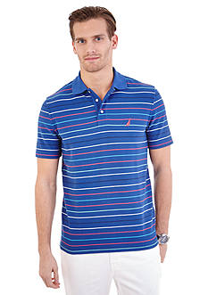 Nautica Short Sleeve Striped Polo Shirt