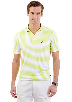 Nautica Slim-Fit Short Sleeve Striped Tech Jersey Polo Shirt