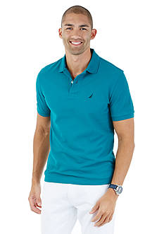 Nautica Short Sleeve Solid Performance Deck Polo Shirt