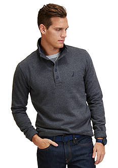Nautica Mock Collar Fleece Pullover