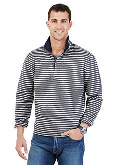 Nautica Striped Quarter Zip Sweater