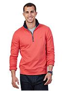 Nautica Luxe Interlocking Quarter Zip Pullover