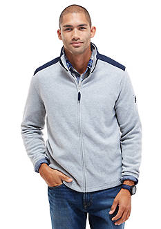 Nautica Mixed Media Full Zip Fleece Jacket
