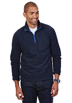 Nautica Solid Pop Quarter Zip Fleece Sweater