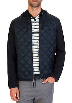 Nautica Mixed Media Quilted Hoodie